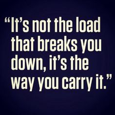 It's not the load people...