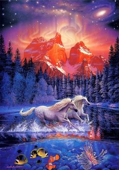 CHRISTIAN RIESE LASSEN Unicorn Fantasy Myth Mythical Mystical Legend Licorne