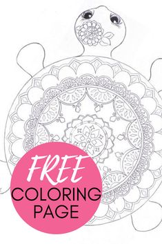 Mandala Turtle Coloring Page | Turtle coloring pages ...