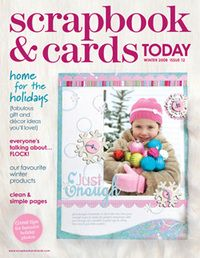 2008 - winter - past scrapbook and cards magazine