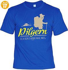 Fun T-Shirt - Wandern Hobby Motiv - Pilgern Ich bin dann mal weg - Unisex, Farbe: Royalblau - Shirts mit spruch (*Partner-Link)