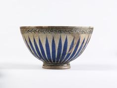 Bowl  Iznik, Turkey   ca. 1530-1540   Fritware, underglaze painted in cobalt blue, glazed  London, V, 791-1905
