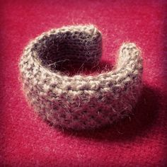 Knitted bangle