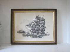 Vintage Robert James Pailthorpe Ship Framed by SmythandMelville