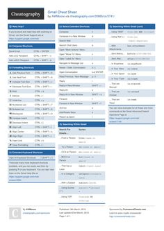 Gmail Cheat Sheet by AWMoore http://www.cheatography.com/awmoore/cheat-sheets/gmail/ #cheatsheet #gmail #google