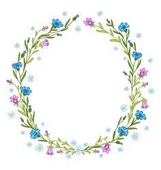 Floral wreath composition vector by stolenpencil on VectorStock®