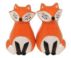 Saleiro e pimenteiro raposa