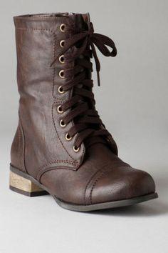 Trooper Brown Combat Boots