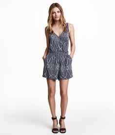 H&M Jersey Jumpsuit - Dark Blue Patterned $17.99