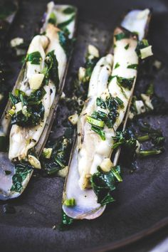 Sauteed razor clams with garlic and parsley – A Hedgehog in the Kitchen Sauteed razor clams with garlic and parsley. A tasty and easy seafood recipe. Succulent, filled with protein and quick and easy to bring together! Clam Recipes, Best Seafood Recipes, Shellfish Recipes, Cooking Recipes, Healthy Recipes, Salmon Recipes, Asian Recipes, Cooking Tips, Razor Clams Recipe