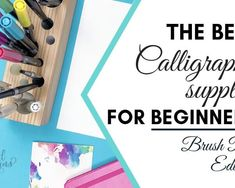 The Best Calligraphy supplies for beginners_Brush Pen Edition by Vial Designs Calligraphy For Beginners Worksheets, Calligraphy Worksheet, Hand Lettering For Beginners, Brush Pen Calligraphy, Calligraphy Supplies, Calligraphy Tutorial, Hand Lettering Tutorial, Calligraphy Practice, Calligraphy Handwriting