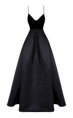 Shop Raine Silk And Velvet Gown. This **Alex Perry** gown features a V neckline with a satin trim, thin straps, and a velvet bodice. Alex Perry, Dress Outfits, Fashion Dresses, Dress Up, Evening Dresses, Prom Dresses, Formal Dresses, Afternoon Dresses, Flapper Dresses