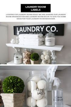 Looking for Laundry Room Ideas? We are sharing our Laundry Room Organization and Laundry Room Decor to give you some ideas for your Laundry Room makeover. Storage Room Organization, Budget Organization, Laundry Room Organization, Laundry Room Design, Laundry Rooms, Laundry Closet, Small Laundry, Organizing Ideas, Laundry Labels