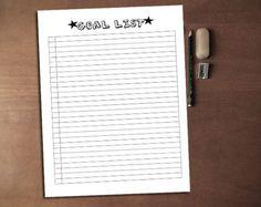 Monthly Goal Tracker Goal Planner Printable Goal Template Goal