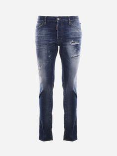 Dark Wash Jeans, Dsquared2, Stretches, Closure, Belt, Pockets, Button, Guys, Denim