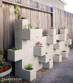 This is another idea I found (I can't remember where though) for the garden. This can be dressed up in so many ways using a concrete stain or paint. It could make an interesting herb garden.
