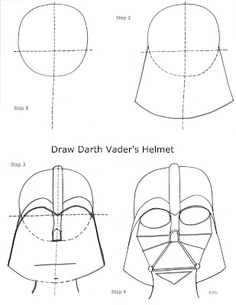 How to Draw Darth Vader Easy, Step by Step, Star Wars