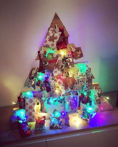 DIY adventkalender Diys, Christmas Tree, Create, Holiday Decor, Lego, Home Decor, Advent Calendar, Teal Christmas Tree, Bricolage