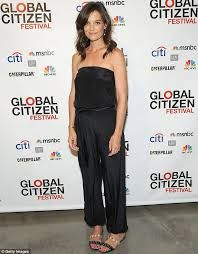 03a5119d494a Katie Holmes attends the Third Annual Global Citizen Festival Launch Party  in New York City. Black Strapless JumpsuitBlack ...