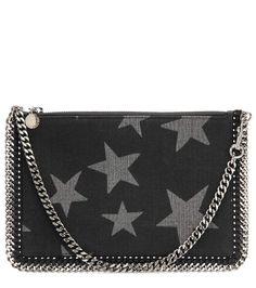STELLA MCCARTNEY Falabella Denim Star Printed Purse. #stellamccartney #bags #lining #denim #accessories #shoulder bags #wallet #cotton #
