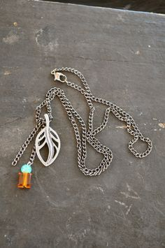 Summer Leaves Necklace by earthbirds on Etsy, $8.00