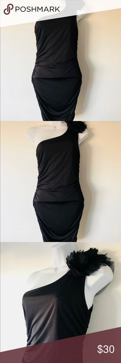 Symphony Little Black Dress sz S bodycon Symphony   Bought from angl  New without tags never worn   Stretchy   Bodycon  One shoulder   Midi length  Size small ANGL Dresses One Shoulder