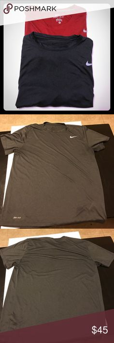 Men's Nike dri fit Bundle Like new condition, both size XL, 100% polyester Nike Shirts Tees - Short Sleeve