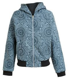 KSUBI - Embroidered Denim Bomber Jacket