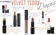 MAC velvet teddy dupes