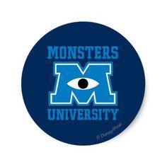 Monsters University Blue Logo
