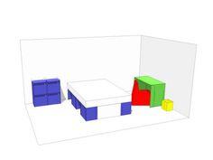 cardboard room in a box folding furniture