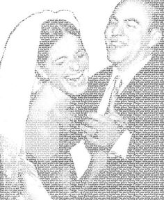 Your first dance lyrics overlaid on your favorite photo from the moment