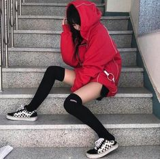 Korean Fashion – How to Dress up Korean Style – Designer Fashion Tips Edgy Outfits, Mode Outfits, Korean Outfits, Grunge Outfits, Girl Outfits, Fashion Outfits, Fashion Ideas, Skater Outfits, Korean Clothes