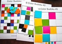 Color Sudoku & Free Printables - Things to Make and Do, Crafts and Activities for Kids - The Crafty Crow