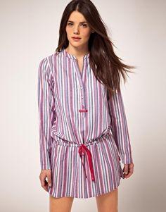 9013a53f7c Calvin Klein Cotton Philippa Stripe Night Dress