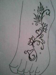 super creative foot tattoo!