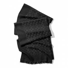 Lightweight Stole in Black from Coach