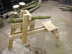 Thinking of making a shave horse? Want to be finished making it tomorrow? Plans are linked in the forum.