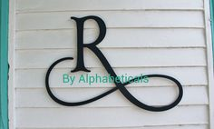 Wooden Initial Monogram Wall Hanging Wall Decor Wooden Letters Script Wall Letters Housewares Alphabeticals (Click < > for + styles.) on Etsy, $25.00