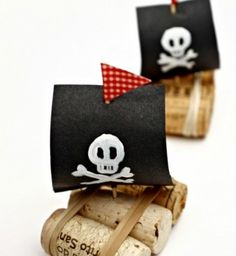 Pirate Ships for Talk Like a Pirate Day- Cork Boat craft for kidsYou can find Pirate ships and more on our website.Pirate Ships for Talk Like a Pirate Day- Cork Boat craft for kids Boat Crafts, Camping Crafts, Summer Crafts, Crafts For Kids, Garden Crafts, Garden Art, Toddler Crafts, Kids Pirate Crafts, Pirate Preschool