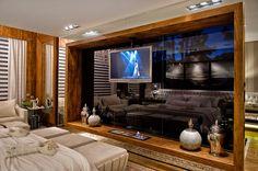 Suíte Luxo com lareira e decoração neutra maravilhosa!