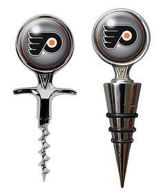 Philadelphia Flyers Cork Screw & Wine Bottle Stopper by Great American Products #zulily #zulilyfinds