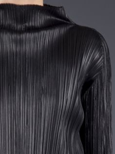 Issey Miyake Pleated Blouse in Black