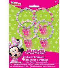 Minnie Mouse Beaded Charm Bracelets | Minnie Mouse Party Favors