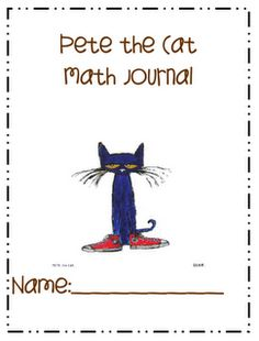FREE Pete the Cat Math Journal