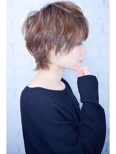 Pin on 髪型 Messy Short Hair, Asian Short Hair, Short Hair Cuts, Short Hair Styles, Haircut For Older Women, Older Women Hairstyles, Bob Hairstyles, Short Choppy Haircuts, New Haircuts