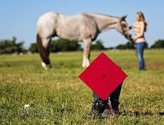 Graduation picture with her horse.     7