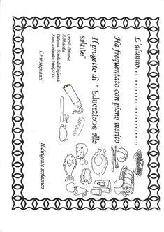 Risultati immagini per schede di verifica per progetto alimentazione scuola infanzia