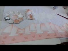 (1) Painting on Fabric.  Learn Painting Barred False.  - YouTube
