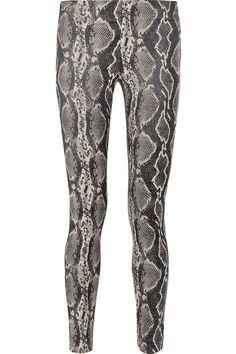 Donna Karan New York - Modern Icons stretch-jacquard leggings-style pants Gucci Top, Mulberry Bag, Leggings Fashion, Leggings Style, Emma Thompson, Rossi Shoes, Bohemian Print, Black Turtleneck, Classic Pumps
